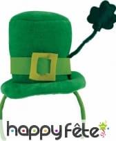 Petit haut de forme Saint Patrick sur serre tête, image 2