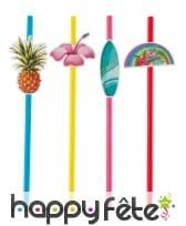 Pailles Hawai en carton