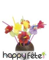 Paille hawaienne fleurs