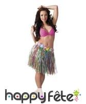 Pagne hawaïenne mi-long multicolore