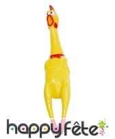 Poulet jaune en caoutchouc de 40cm