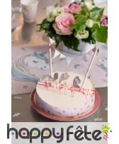 Petit kit de décoration licorne pour gâteau, image 1