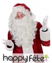 Perruque Luxe avec barbe de Père Noël