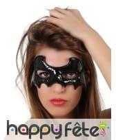 Petit loup chauve-souris noir effet vinyle, femme