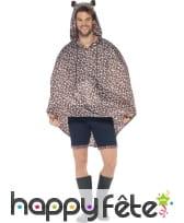 Poncho léopard imperméable, image 1