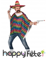 Poncho multicolore avec franges, image 1
