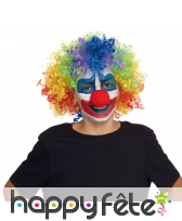 Perruque multicolore de clown pour enfant