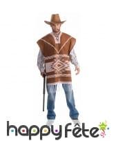 Poncho marron de cowboy
