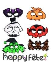 Petit masque Halloween coloré pour adulte