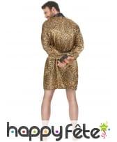 Peignoir motifs léopard satiné pour homme, image 2