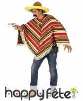 Poncho mexicain maillage en relief, adulte, image 1