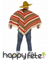 Poncho mexicain maillage en relief, adulte, image 2