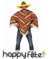 Poncho mexicain maillage en relief, adulte