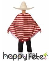 Poncho Mexicain rayé avec pantalon pour enfant, image 2