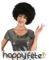 Perruque noire afro, image 1