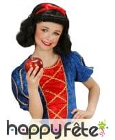 Perruque noire avec noeud rouge pour enfant