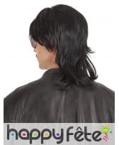 Perruque noire coupe mulet pour homme, image 1