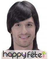 Perruque noire coupe mulet pour homme, image 2