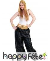 Pantalon noir de danseuse orientale pour femme