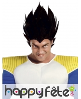 Perruque noire de Dragon Ball, pour adulte