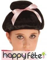 Perruque noire de Geisha pour femme, image 1