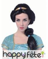 Perruque noire de princesse Orientale pour femme, image 1