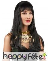 Perruque noire de reine Egyptienne