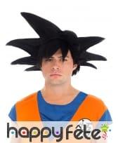 Perruque noire de Son Goku pour homme, Dragon Ball