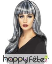 Perruque noire et grise