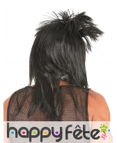Perruque noire punk pour homme, image 1