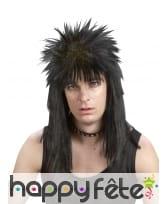 Perruque noire punk pour homme, image 2