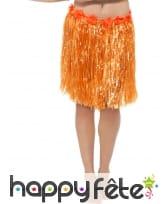 Pagne orange à fleurs