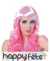 Perruque ondulée rose glamour, image 1