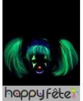 Perruque phosphorescente avec couettes pour enfant, image 1