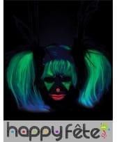 Perruque phosphorescente avec couettes pour enfant, image 4