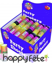 Party poppers canon a confettis