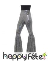 Pantalon patte d'eph motifs disco pour femme