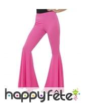 Pantalon patte d'eph rose pour femme