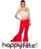 Pantalon patte d'eph rouge pour femme, image 1