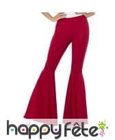Pantalon patte d'eph rouge pour femme