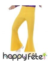 Pantalon pattes d'eph jaune pour homme adulte