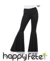 Pantalon pattes d'eph noir pour femme