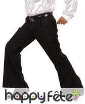 Pantalon pattes d'eph noir pour homme, image 1