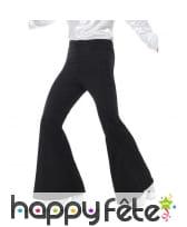 Pantalon pattes d'eph noir pour homme