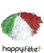 Pom pom drapeau Italie