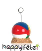 Porte photo en forme de ballon de plage