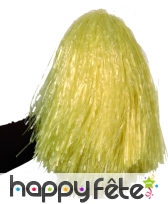 Pom-pom jaune raphia nylon