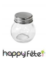 Petit pot rond en verre avec couvercle, 5cm