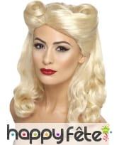 Perruque pin-up des années 40, blonde