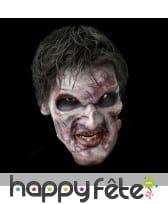 Prothèse pour visage de zombie, en mousse